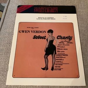 Sweet Charity Vocal Selections Book
